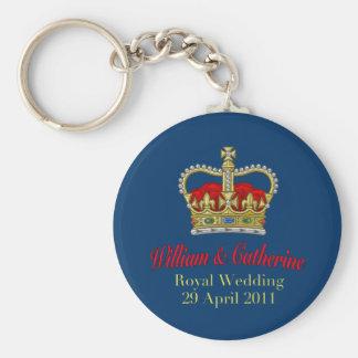 William & Catherine Royal Wedding April 29, 2011 Basic Round Button Keychain