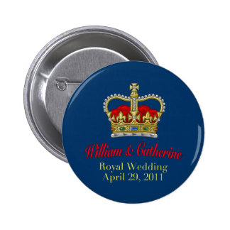 William Catherine Royal Wedding April 29 2011 Pinback Button