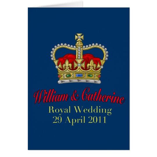 William & Catherine Royal Wedding April 29, 2011 Card