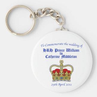 William & Catherine Royal Wedding April 29, 2011 Keychain