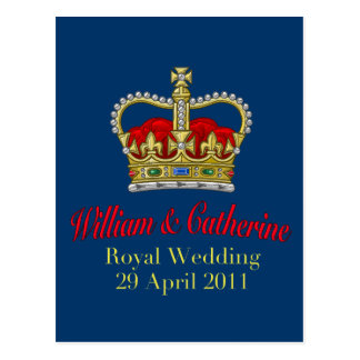 William & Catherine Royal Wedding April 29, 2011 Postcard