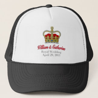 William & Catherine Royal Wedding April 29, 2011 Trucker Hat