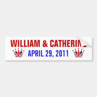 William & Catherine Royal Wedding Car Bumper Sticker