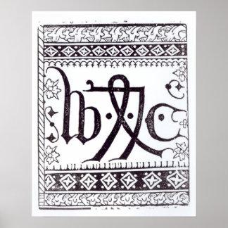 William Caxton's  Print Mark