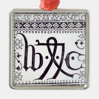 William Caxton's  Print Mark Metal Ornament