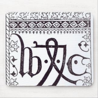 William Caxton's  Print Mark Mouse Pad