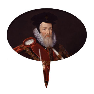 William Cecil 1st Baron Burghley Cake Pick