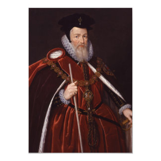 William Cecil 1st Baron Burghley Card
