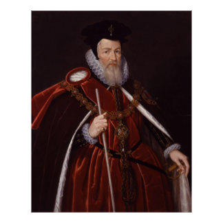 William Cecil 1st Baron Burghley Poster
