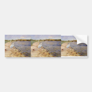 William Chase- Beach Scene- Morning at Canoe Place Car Bumper Sticker