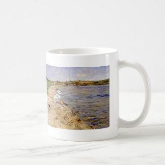 William Chase- Beach Scene- Morning at Canoe Place Classic White Coffee Mug