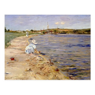 William Chase- Beach Scene- Morning at Canoe Place Postcard