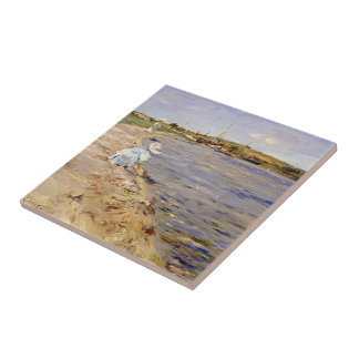 William Chase- Beach Scene- Morning at Canoe Place Tiles