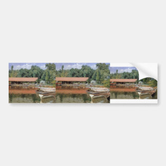 William Chase- Boat House, Prospect Park Car Bumper Sticker
