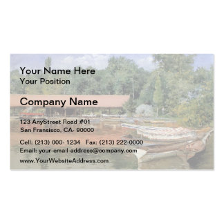 William Chase- Boat House, Prospect Park Double-Sided Standard Business Cards (Pack Of 100)