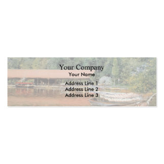 William Chase- Boat House, Prospect Park Double-Sided Mini Business Cards (Pack Of 20)