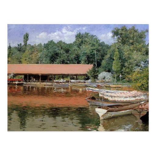William Chase- Boat House, Prospect Park Postcard