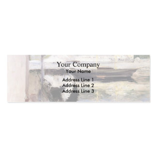 William Chase- Fish Sheds and Schooner, Gloucester Business Cards
