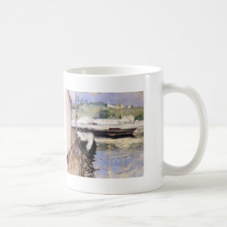 William Chase- Fish Sheds and Schooner, Gloucester Classic White Coffee Mug