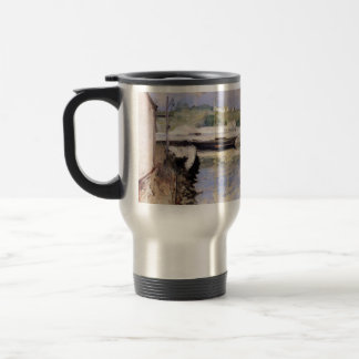 William Chase- Fish Sheds and Schooner, Gloucester 15 Oz Stainless Steel Travel Mug
