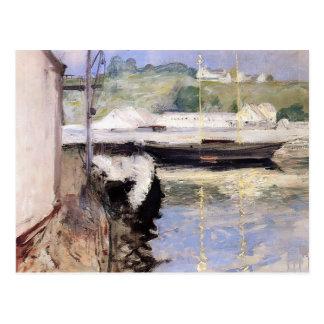 William Chase- Fish Sheds and Schooner, Gloucester Postcards