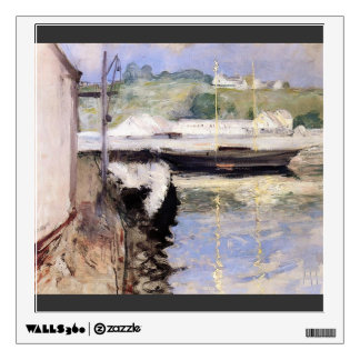 William Chase- Fish Sheds and Schooner, Gloucester Wall Sticker