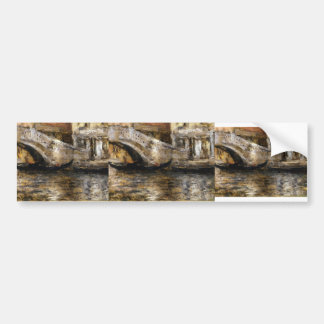 William Chase- Gondolas along Venetian Canal Car Bumper Sticker