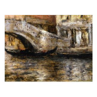 William Chase- Gondolas along Venetian Canal Post Card
