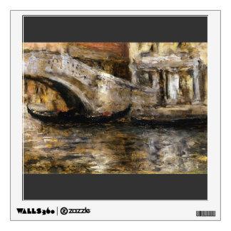 William Chase- Gondolas along Venetian Canal Wall Graphics