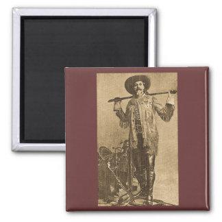 William Cody - Frontiersman (Sepia) 2 Inch Square Magnet