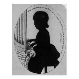 William Crotch Playing the Organ Postcard