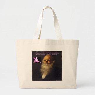 William Cullen Bryant Flower Poem Canvas Bags