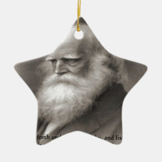 William Cullen Bryant & Nature Quote Christmas Ornament