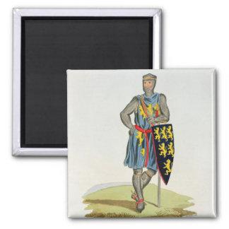 William de Longuespee, 3rd Earl of Salisbury (d.12 2 Inch Square Magnet