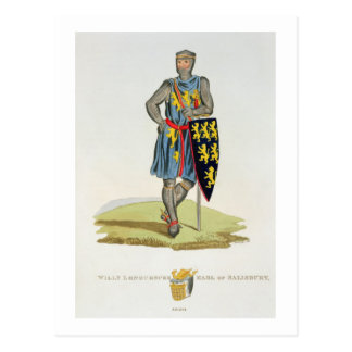 William de Longuespee, 3rd Earl of Salisbury (d.12 Postcard