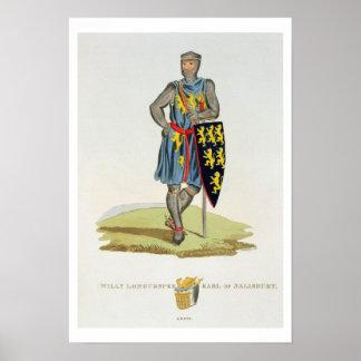 William de Longuespee, 3rd Earl of Salisbury (d.12 Poster