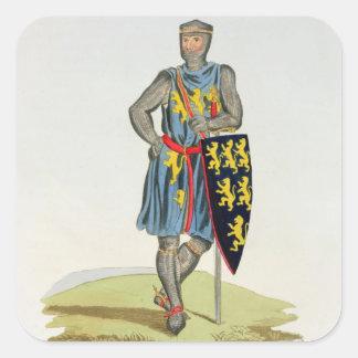 William de Longuespee, 3rd Earl of Salisbury (d.12 Square Sticker