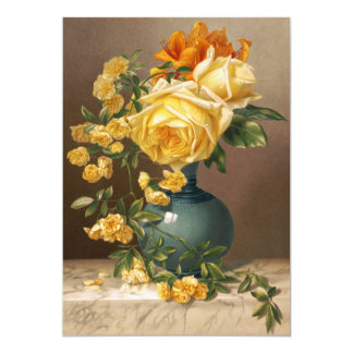 """William Duffield: Marchal Niel Roses 5"""" X 7"""" Invitation Card"""