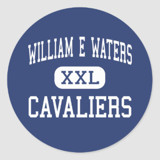 William E Waters Cavaliers Middle Portsmouth Round Stickers
