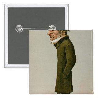 William Ewart Gladstone 2 Inch Square Button