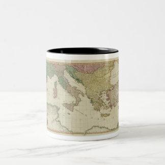 William Faden Mediterranean Map Two-Tone Coffee Mug