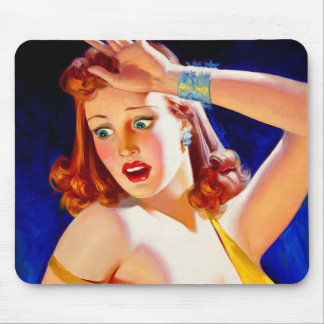 William Fulton Soare: Menace Pulp Cover Mouse Pad