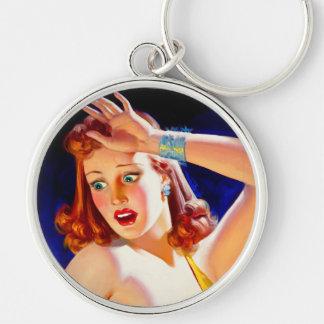 William Fulton Soare: Menace Pulp Cover Silver-Colored Round Keychain