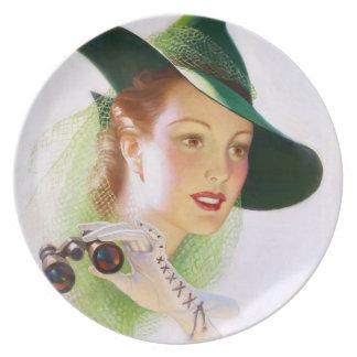 William Fulton Soare: Woman with Binocular Dinner Plate