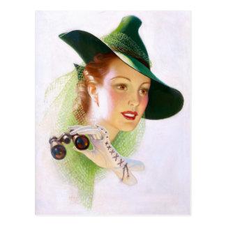William Fulton Soare: Woman with Binocular Post Card