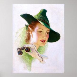 William Fulton Soare: Woman with Binocular Posters