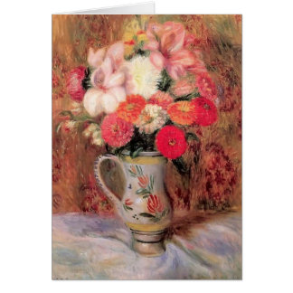 William Glackens- Flowers in a Quimper Pitcher Cards