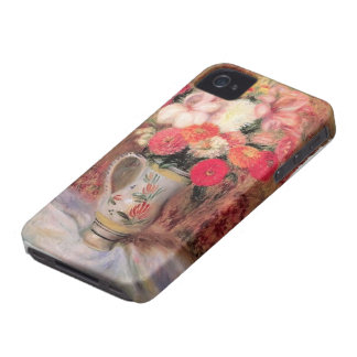 William Glackens- Flowers in a Quimper Pitcher iPhone 4 Case-Mate Cases
