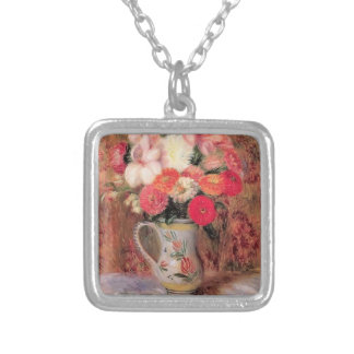 William Glackens- Flowers in a Quimper Pitcher Personalized Necklace
