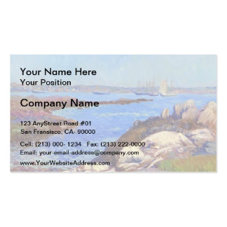 William Glackens- Portsmouth Harbor, New Hampshire Double-Sided Standard Business Cards (Pack Of 100)